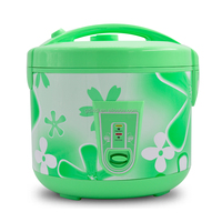 green deluxe electric rice cooker with steamer
