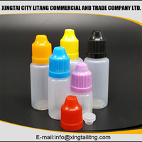 Empty 5ml PET/PE Medical Eye Drop Bottles/ Plastic Eye Dropper Bottle with Child Proof Cap(for E-liquid Bottle)
