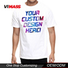 Fashion screen print t-shirt wholesale, high quality men custom t-shirt with your own logo