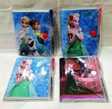 2015 Frozen Fever Stationery Sets Elsa and Anna Ballpoint pen & Notebooks
