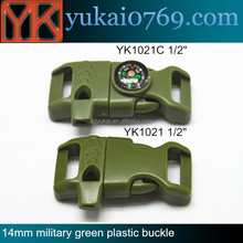 Yukai high quality plastic lock buckle,quick release army buckle,quick release safety plastic buckle