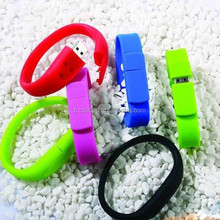 promotional gifts bracelet usb flash drive, OEM logo wristband usb disk 16gb, 32gb, 64gb, cheapest silicone usb flash