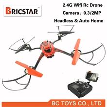Professional headless and auto home 2.4G rc quadcopter drone with camara fpv.