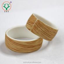 Luxury Custom Hot Selling Wood Silicone Wedding Rings