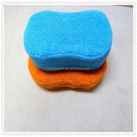 Green Microfiber magic sponge fit non-woven fabrics with factory price HL 106