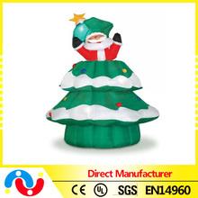 2015 Wholesale Christmas 1m/1.2m/1.5m Lighting Santa and PVC Artificial Christmas Tree