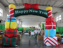 Advertising christmas arch/gift box/inflatable/christmas arch advertisment/christmas advertising arch W179