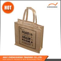 Custom design new fashion wholesale jute shopping tote bag