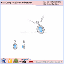 oem jewelry manufacturer with natural stone pendant necklace in silver 925
