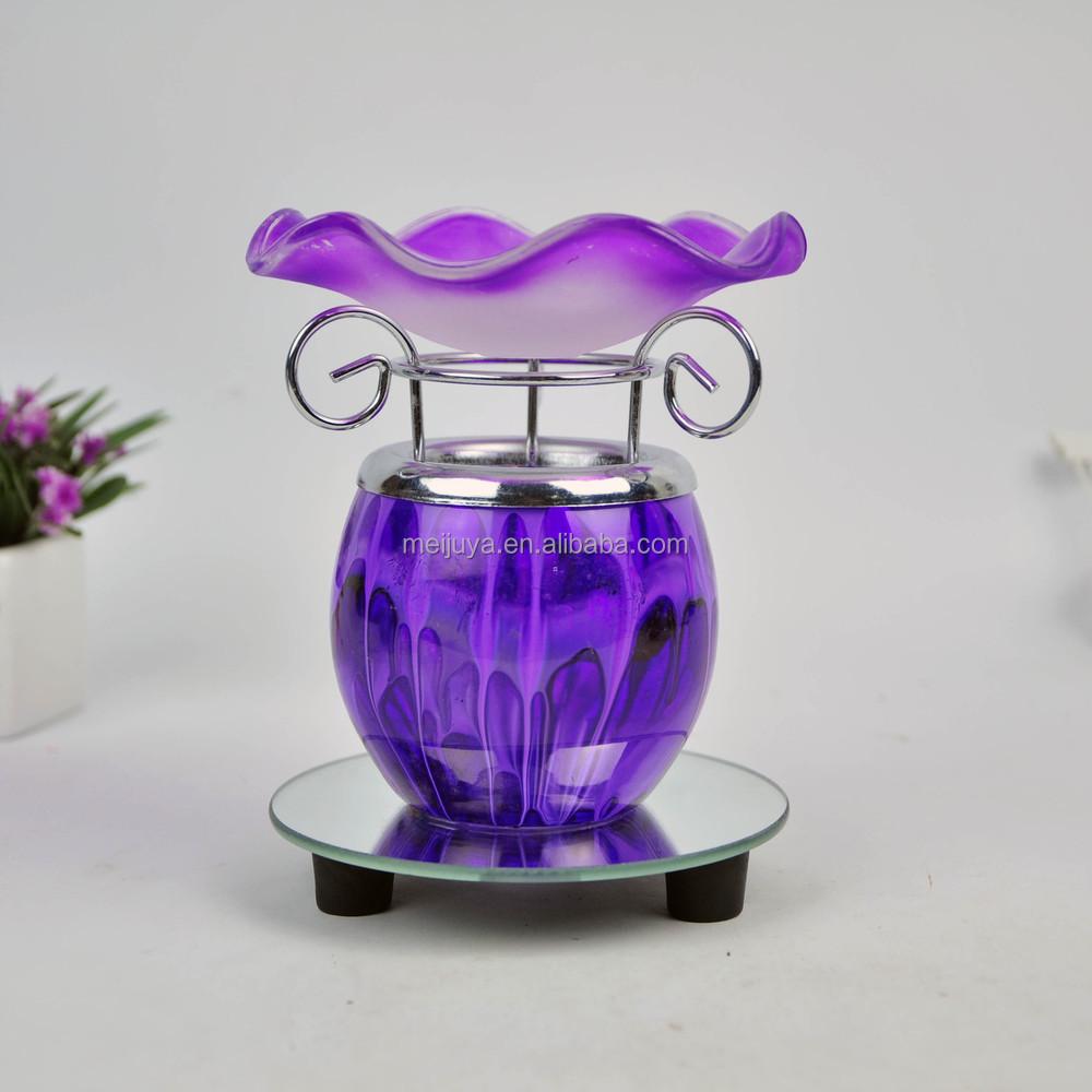 Lâmpada da fragrância de vidro queimador de óleo aroma lâmpada aquecedor de óleo elétrico MY-346O