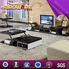2015 unique living room high gloss black and white paint tv stand