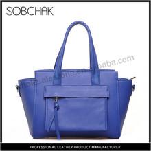 Promotional high cost genuine leather nice design k k handbags