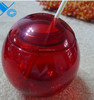 Sedex Factory 400ml Ball shaped plastic straw drinking cup