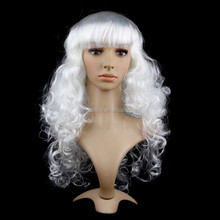 2015 New Wigs for women long wavy synthetic wig fashion Cosplay colored Costume Wigs