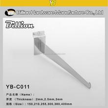 YB-C011 clothing store metal slat wall cabinet bracket or wall hanging bracket