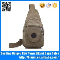 2015 New fashion hot sale China wholesale teens bags professional designer Tmall canvas sling chest bag for men made in China