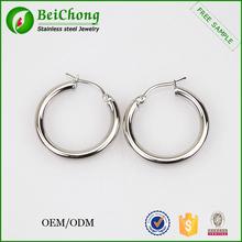 Stainless steel jewelry findings large silver hoop earrings findings