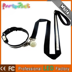 Led reflective collar flashing leash lighting pendant for pet
