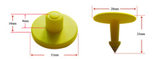 New Product rfid animal ear tags/ cattle ear tag for Pigs made in china