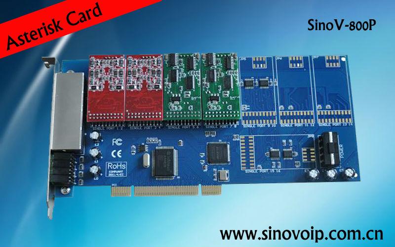 8 FXS / FXO analógicos tarjeta pci asterisco TDM800P