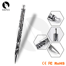 Jiangxin roller pen shape gold ball pen with led light