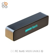 2015 Hot Selling Metal Power Bank With Lighting Logo, Power Bank 2600mAh For Smartphone