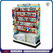 TSD-M425 TV games Pop Shelf Display/metal display stand for video games/Boutique Display Shelf