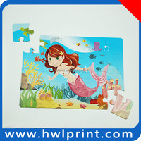 OEM manufacture cartoon mermaid picture puzzle jigsaw