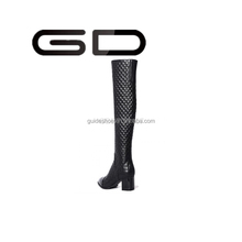 2015 new fashion pointed toe high boots patent leather over the knee boots for women