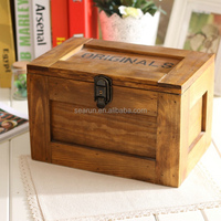New design and hot sell pine small wooden package box for craft for sell