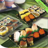 Disposable Plastic Food Sushi Box Take Away Packing Containers
