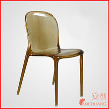 acrylic chair with casters