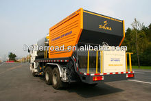 synchronous asphalt chip sealer truck for road construction