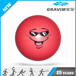 Simle face printed red color toy ball/non-toxic PVC toy ball/toy PVC ball