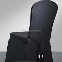 Wholesale black spandex chair cover with trimming band