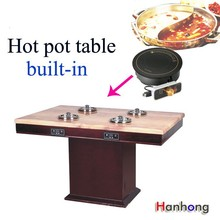 retractable dining table , hot pot table restaurant , marble conference table