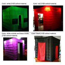 Black Plastic Inflatable Photo Booth Enclosure Tent for Outdoor Activities