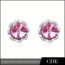 Wholesale Rhinestone Accessories channel stud earrings