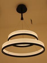 commercial LED chandelier 2-ring design for office decoration