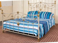 factory manufactured crown pattern iron bed for bedroom furniture