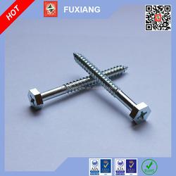 AIIB aluminium screw caps Carbon steel clear zinc Hex head phillips wood screw