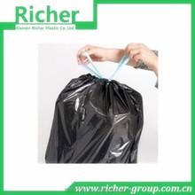 HDPE Black Heave Duty Plastic Drawstring Garbage Bag for Bin
