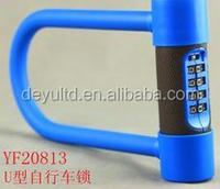 Leather cover 4 digit combination bike U lock, U lock for bicycle lock and motorcycle