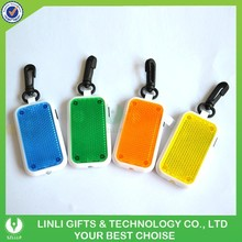 Hot selling promotion led reflects keychain with flasher