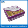 Metal tin snack box, biscuit packaging boxes