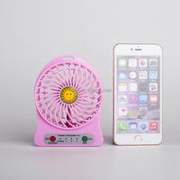 Portable USB mini fan 18650 lithium battery operated mini electric hand fan