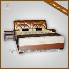 Alibaba express leather double bed design HY-F015