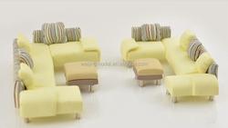 model sofa in plastic, architecture model scale sofa, sofa for scenery display