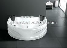 interior de la bañera de acrílico bañera de hidromasaje masaje bañera blanca bañera oval para uso tina de agua caliente