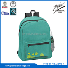polyester wholesale medium school backpack with printing